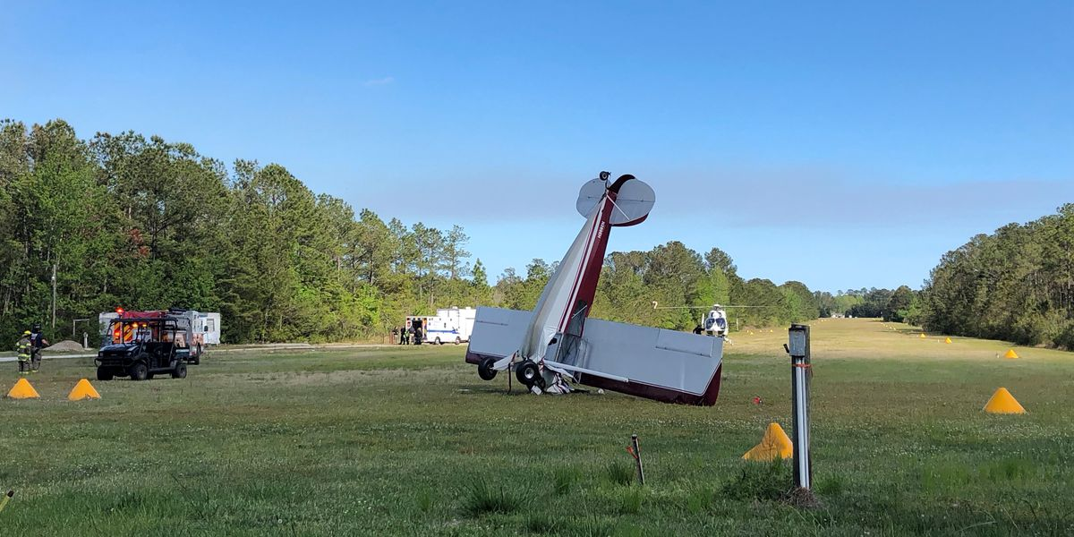 One person injured in plane crash at Holly Ridge Airport