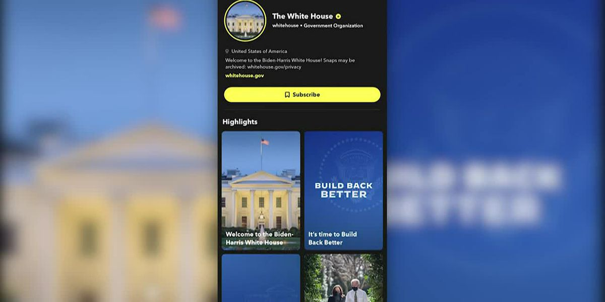 White House relaunches Snapchat account