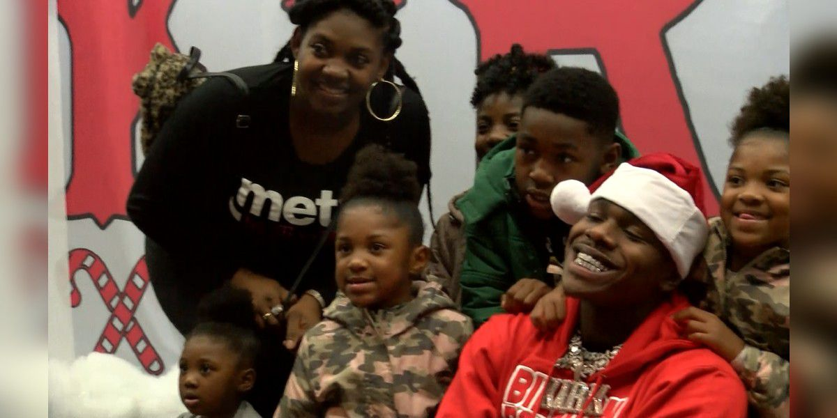 DaBaby gives gifts to 200 kids in Charlotte before Christmas