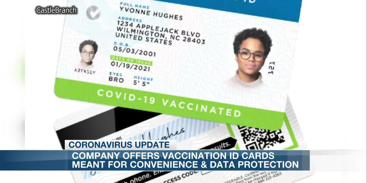 Real vaccination ID cards available from local company