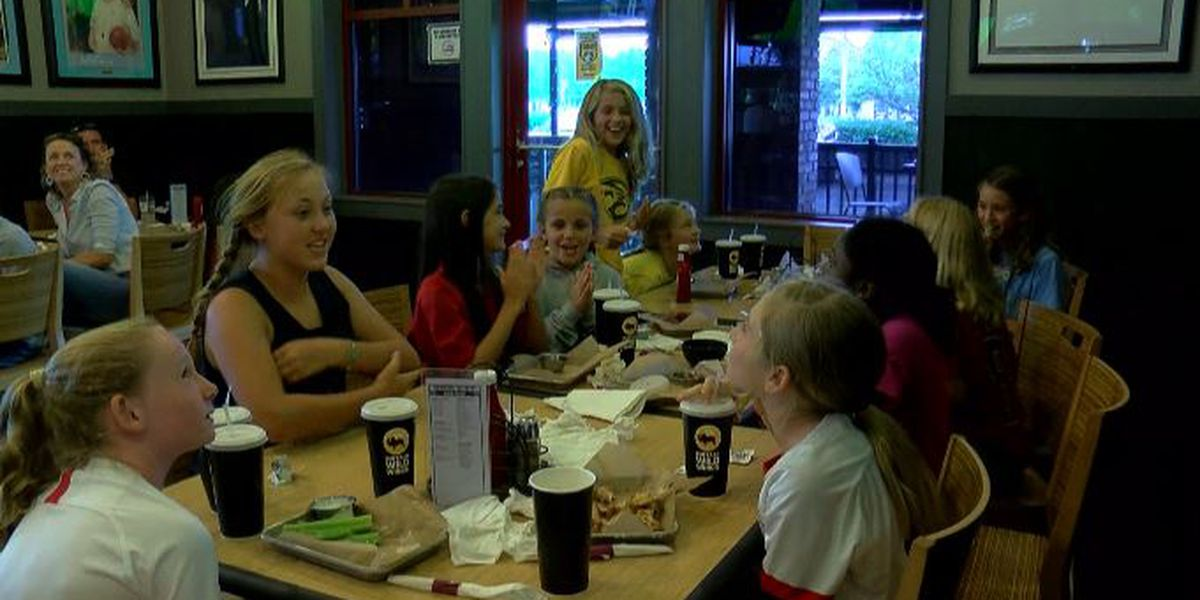 Wilmington youth soccer players cheer on U.S. national team