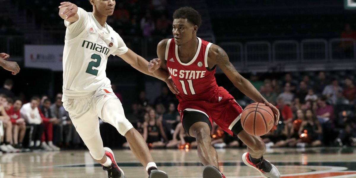 Johnson's double-double helps NC State beat Miami 83-72