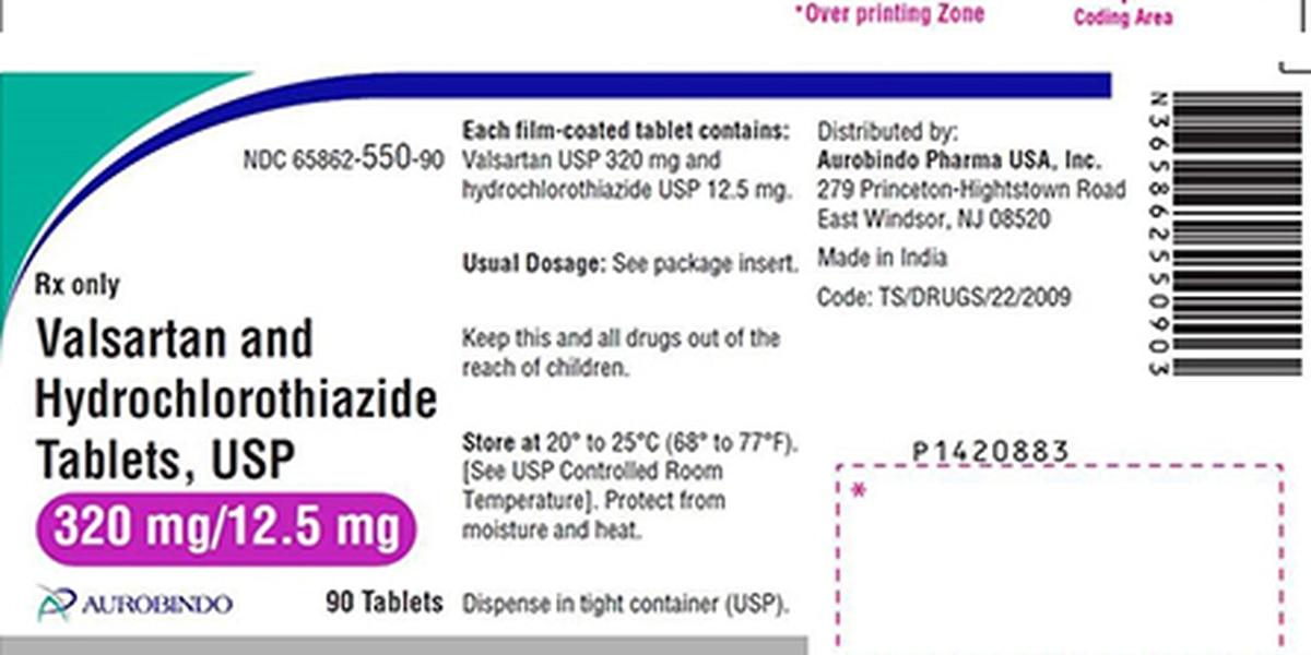 Aurobindo Pharma recalls 80 lots of Valsartan Tablets for blood pressure, possible impurity