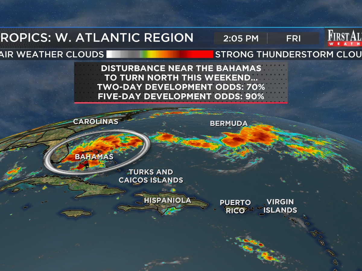 First Alert Forecast: a cooler and wetter change at home, watching tropics hawkishly