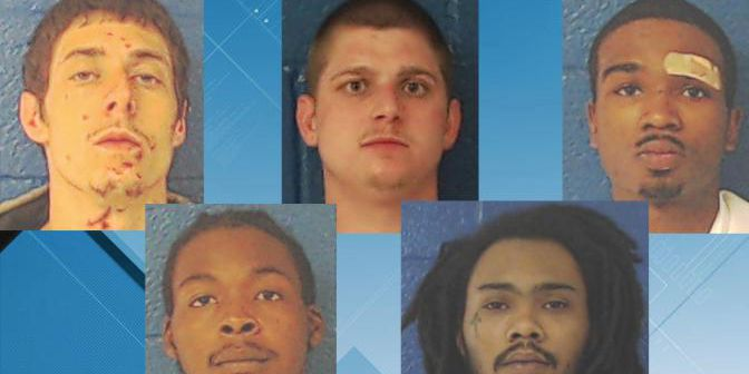 5 inmates escape from NC jail by cutting hole in fence; 4 recaptured