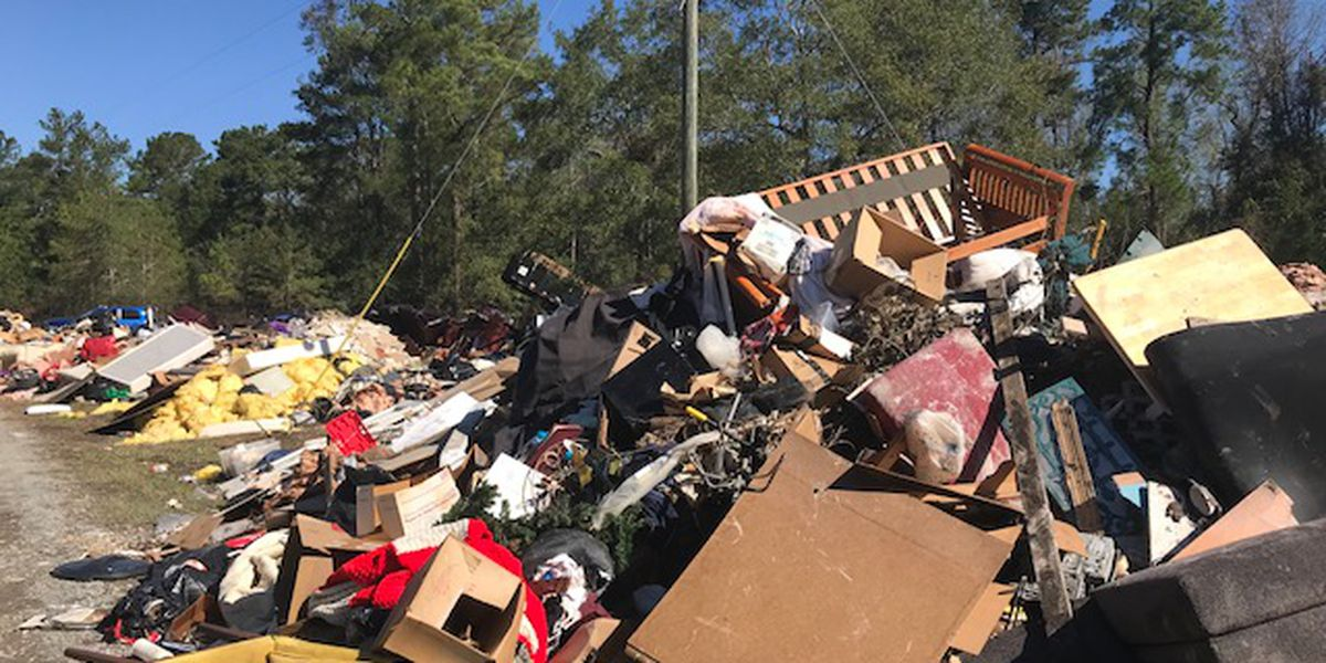 Debris left by Florence piles up along southeastern NC roadways