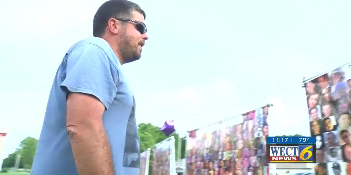 Group displays 19 banners to commemorate International Overdose Awareness Day