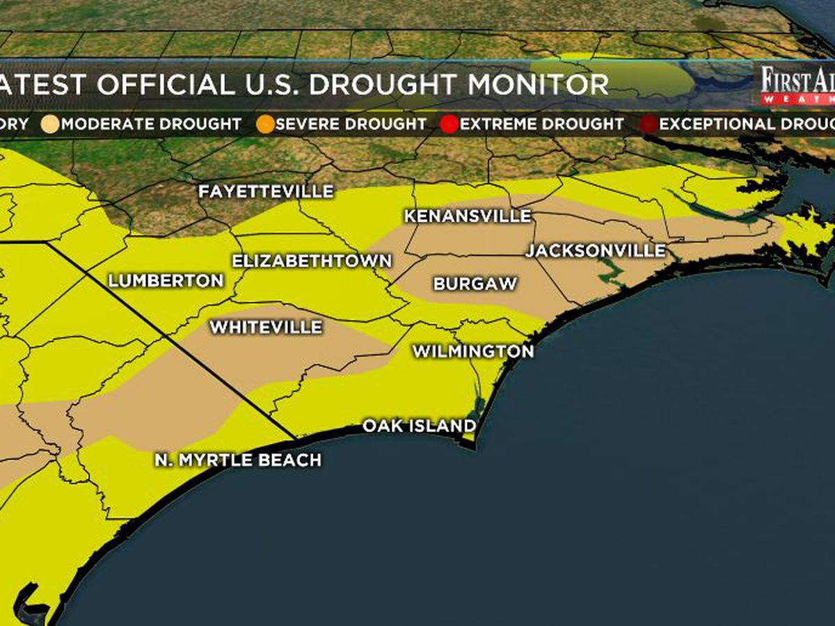 July downpours ease Cape Fear drought a touch