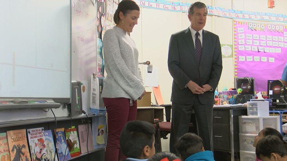 Governor talks school bond referendum, Medicaid expansion during Tuesday visit