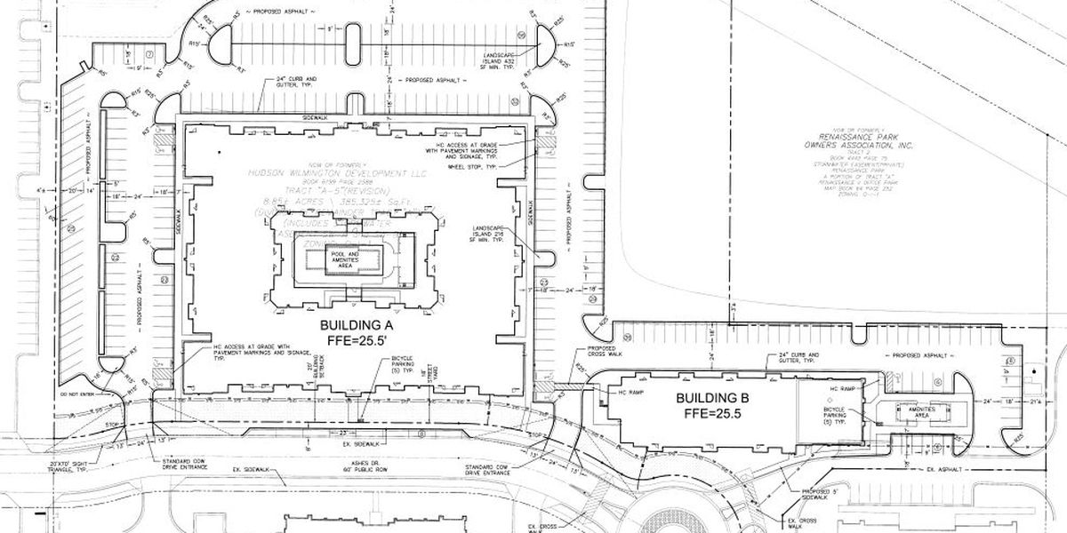 Plans submitted for 198-unit apartment complex in Mayfaire area