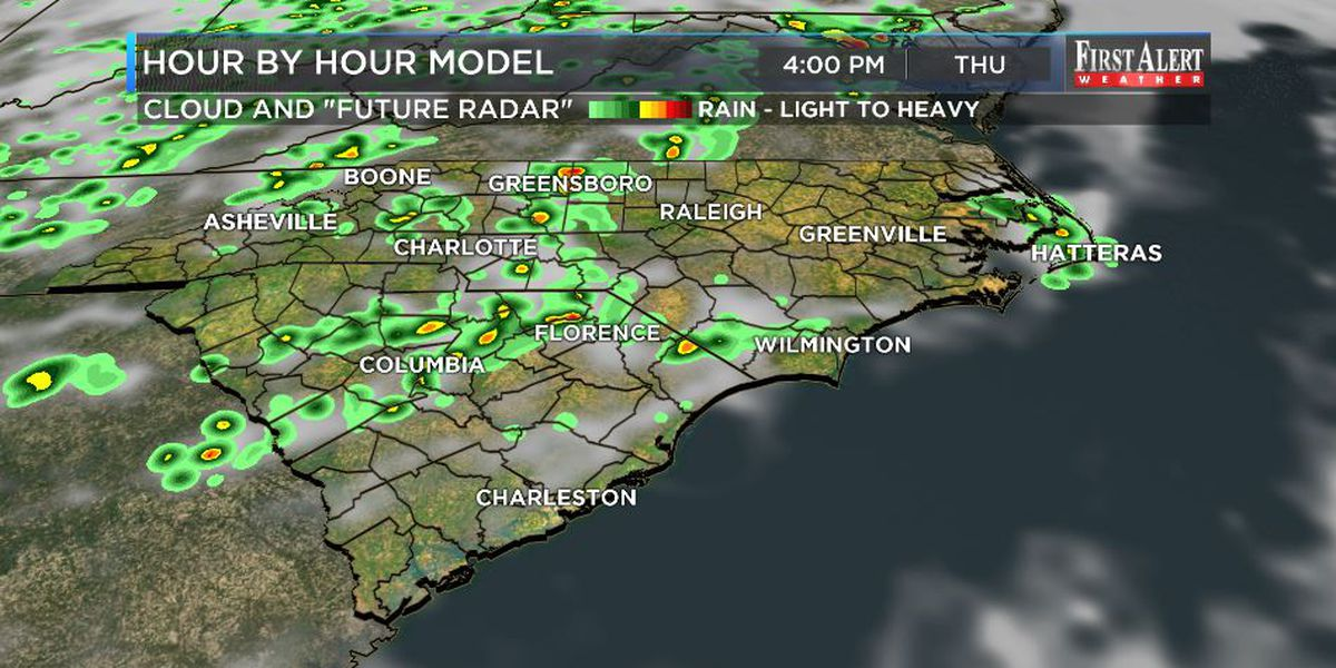 First Alert Forecast: consistently hot, occasionally stormy