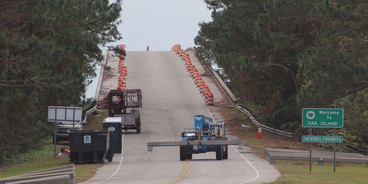 Rehab work on G.V. Barbee Bridge in Oak Island progressing