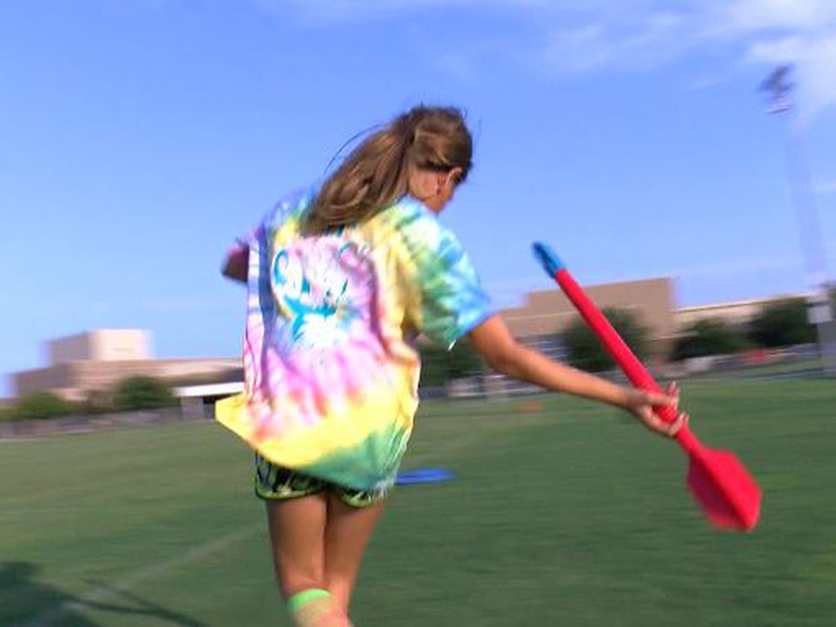 Javelin thrower getting ready for national meet