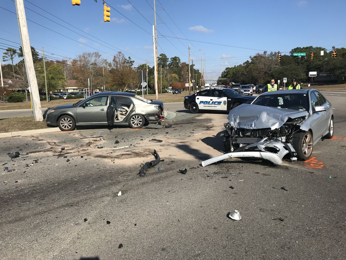 One person hurt in two-car wreck on South College Road