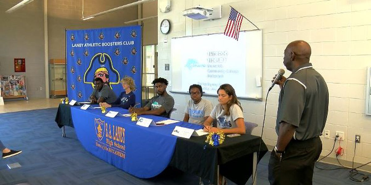 Laney and Whiteville High School host signing day events