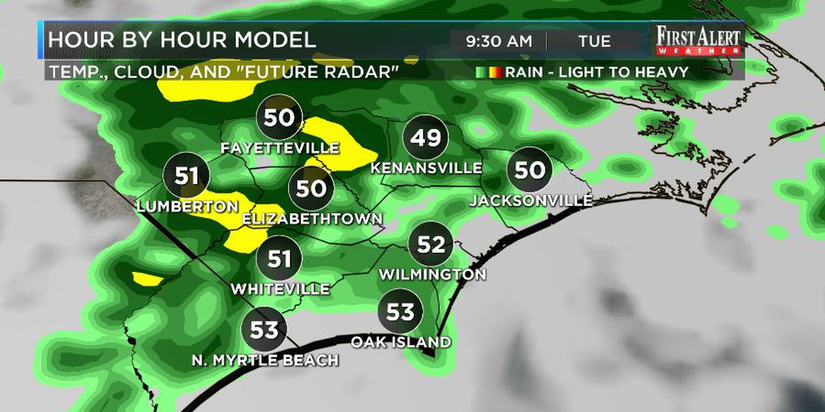 First Alert Forecast: Unsettled weather to start your work week