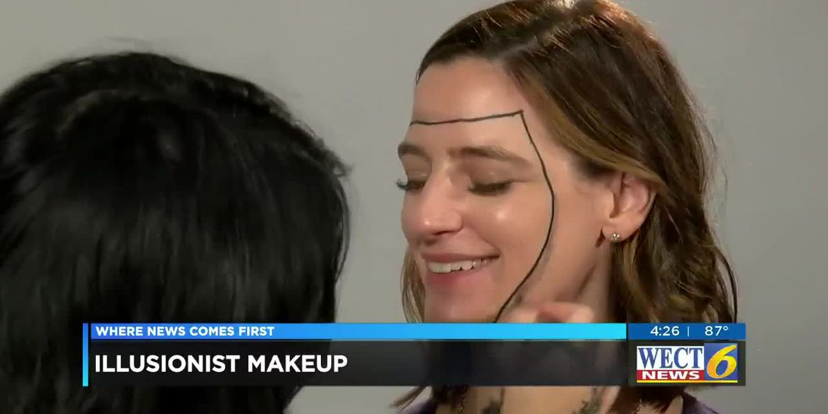 Makeup artist gives WECT News anchor an illusionist look