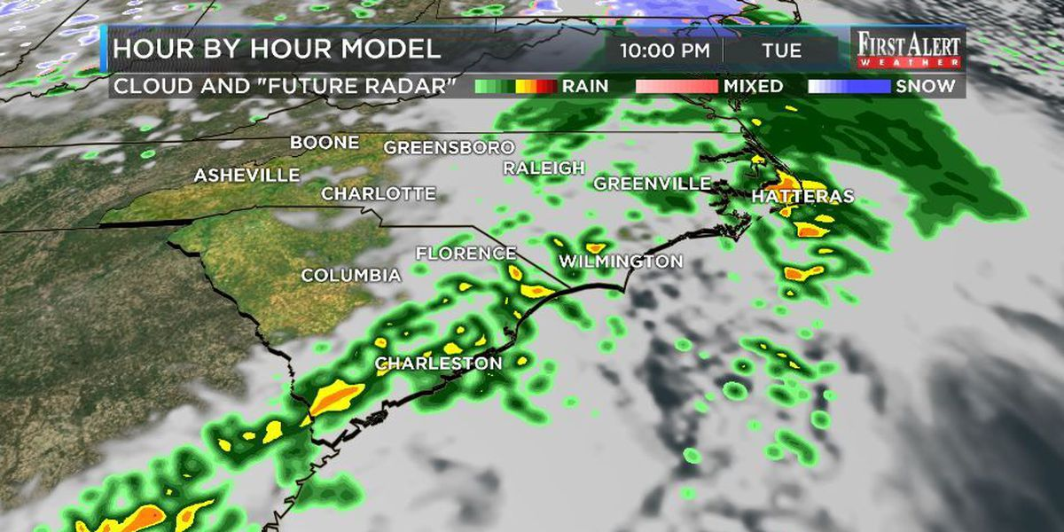 Copy-First Alert Forecast: quick rain system moving in...