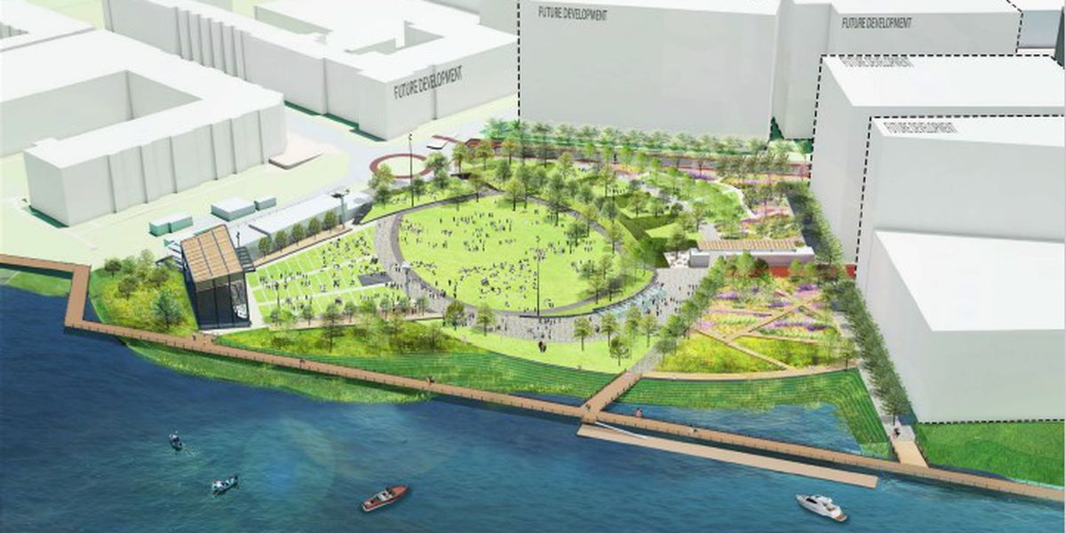 City leaders say increased price tag 'worth it' as North Waterfront Park moves into construction phase