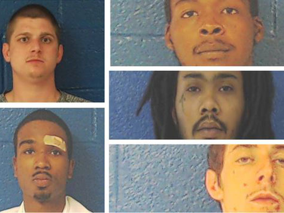 5 inmates cut through fence to escape Nash County jail, sheriff's office says