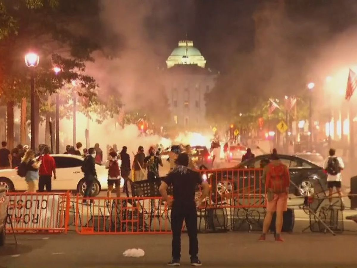 12 arrested, 5 Raleigh officers injured in overnight unrest