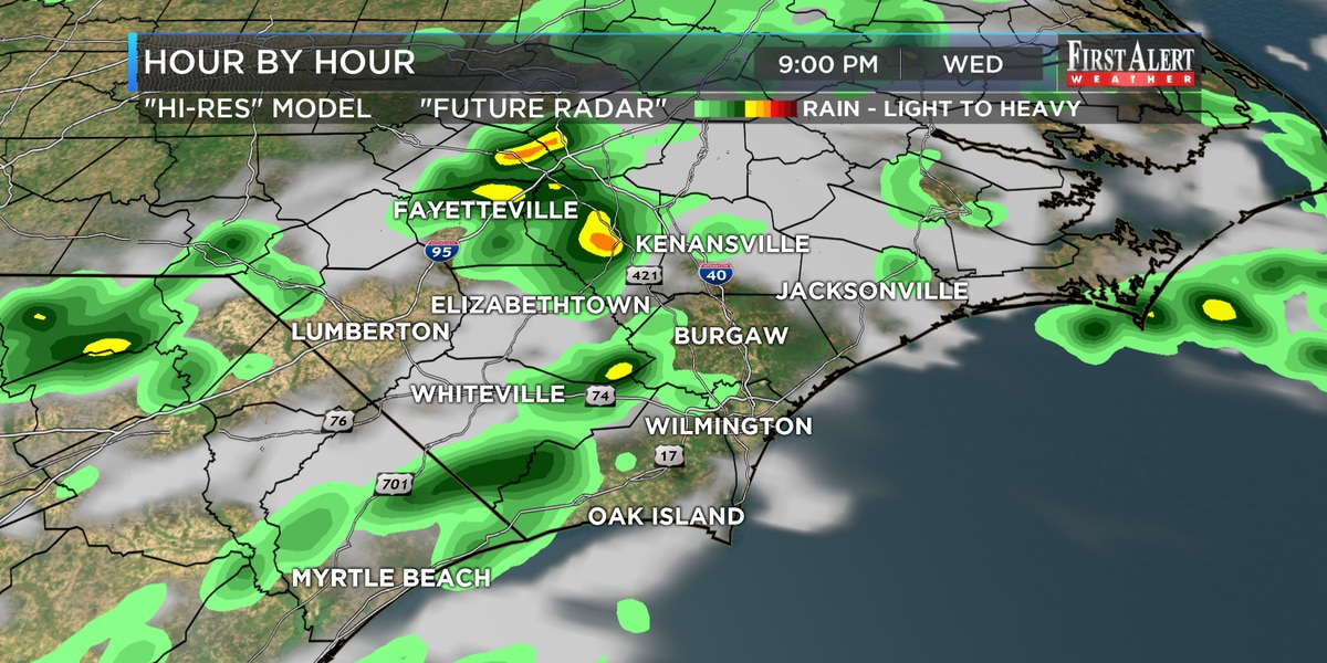 First Alert Forecast: two blasts of unseasonably cool air ahead of Mother's Day