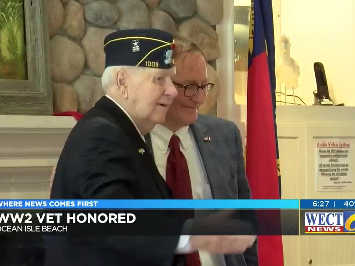 Brunswick County WW2 vet presented France's highest honor