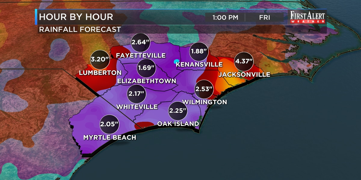 First Alert Forecast: one more day of heavy rain and storms. . .better by holiday weekend