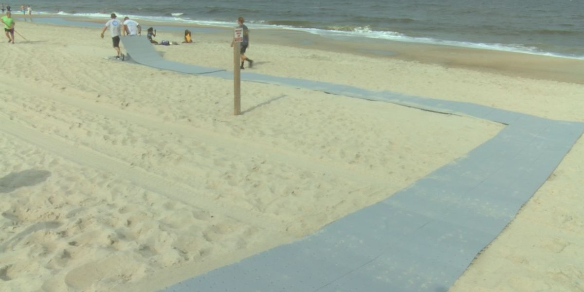 Facing concerns from N.C. Wildlife, wheelchair-accessible beach mat in Carolina Beach won't be back for the rest of this season