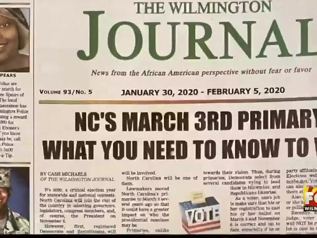 Fundraiser underway to save 'The Wilmington Journal'