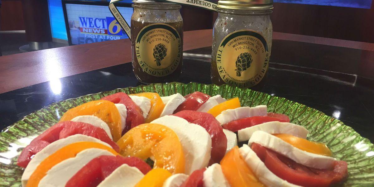 Recipe: Caprese Salad with homemade balsamic vinaigrette