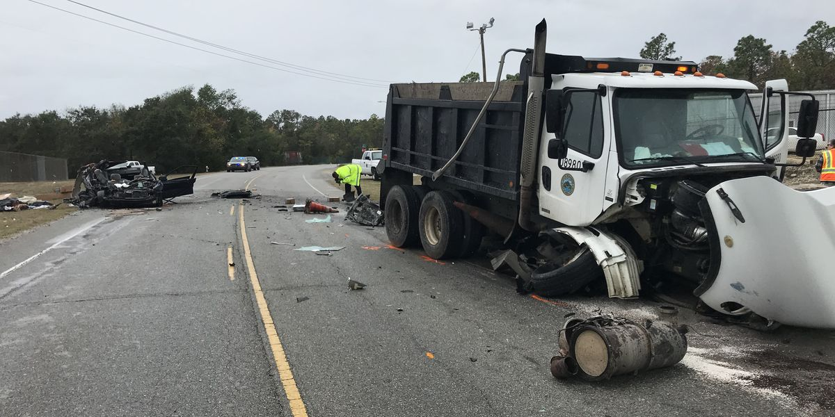 River Road reopens after head-on collision involving dump truck