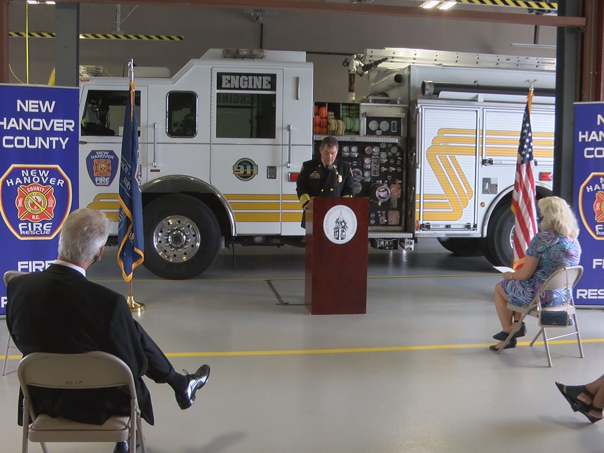 New Hanover County rededicates fire station damaged by Florence