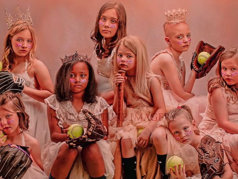 Gowns and baseball gloves: Woman's photos inspire girls to 'do it all'