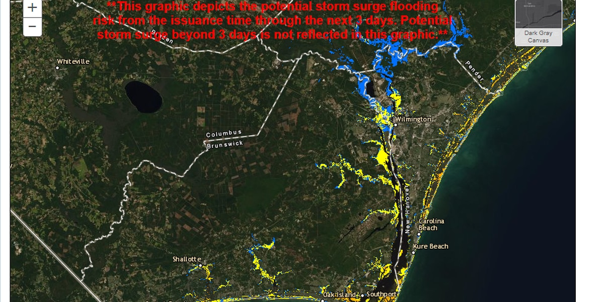 National Hurricane Center releases interactive storm surge