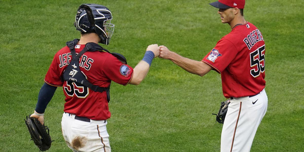 Ryan Jeffers hits first MLB homer