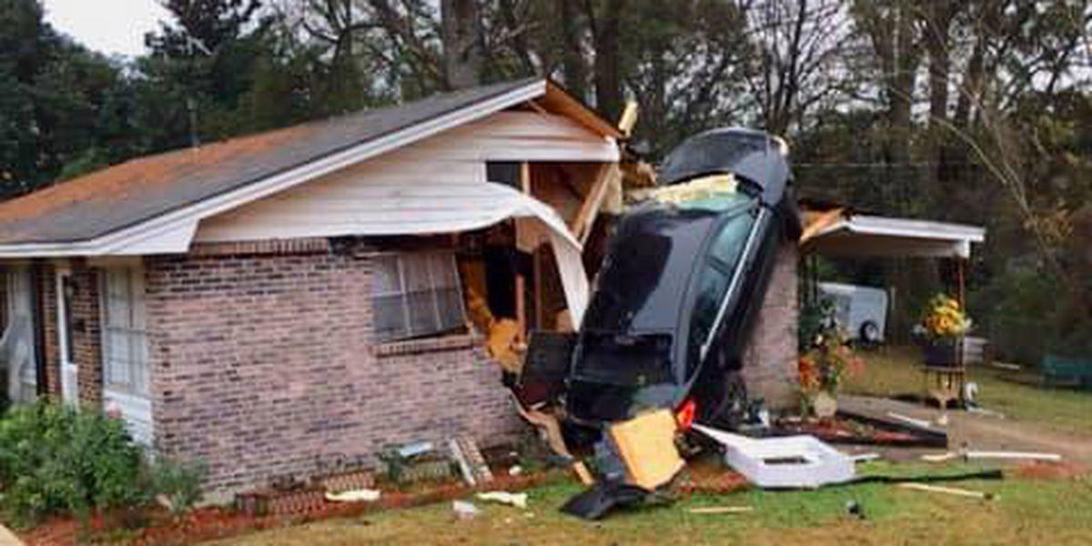 Car crashes into Montgomery home Sunday morning
