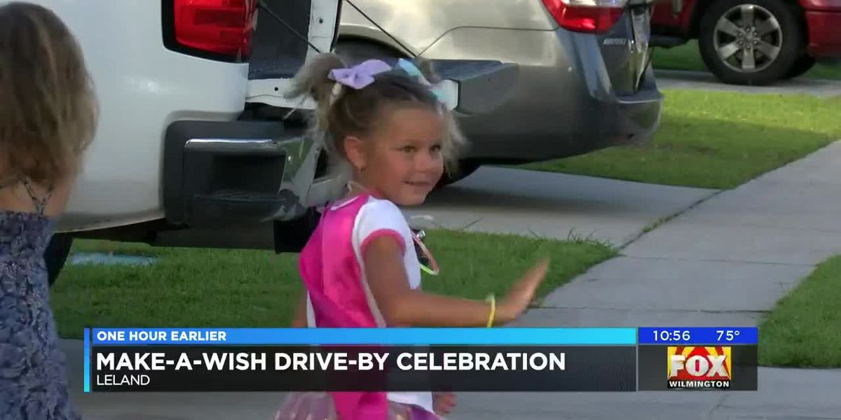 Make-A-wish organized a drive-by celebration for a child battling a rare cancer