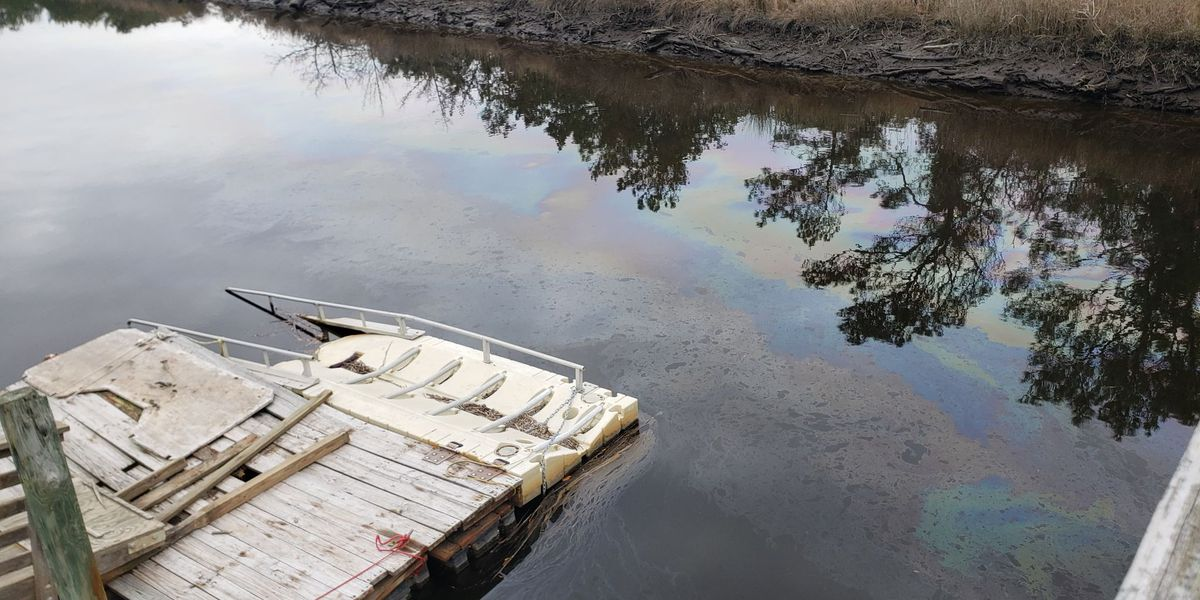 Concerned community members hope for answers after oil appears in canal