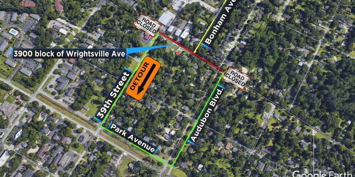 TRAFFIC ALERT: Wrightsville Avenue closure extended for sewer repair work
