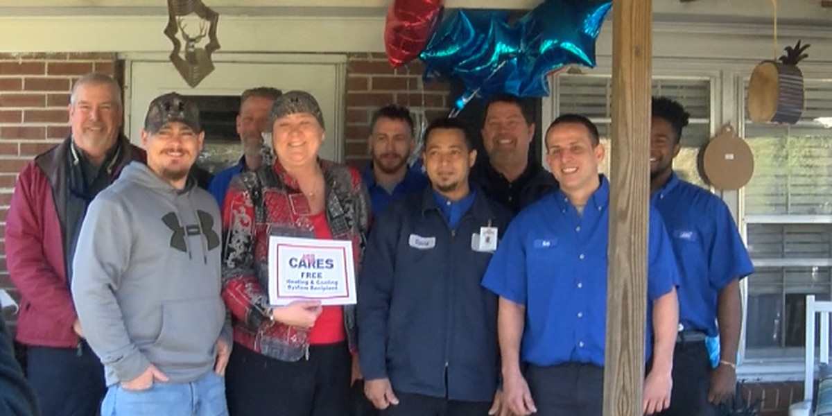 Woman gets new HVAC unit while battling cancer