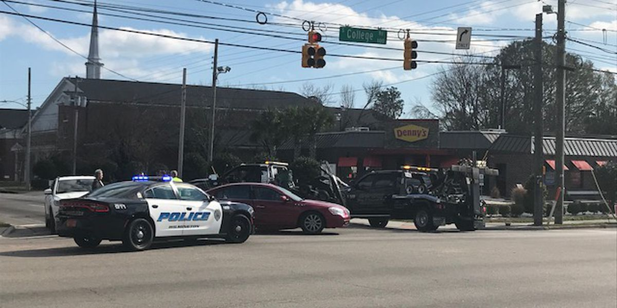 TRAFFIC ALERT: Multiple lanes blocked after wreck at S. College Road -Wrightville Ave. intersection
