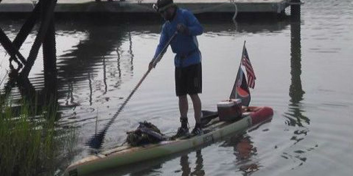 Veteran paddleboarding to Statue of Liberty making stop at Wrightsville Beach