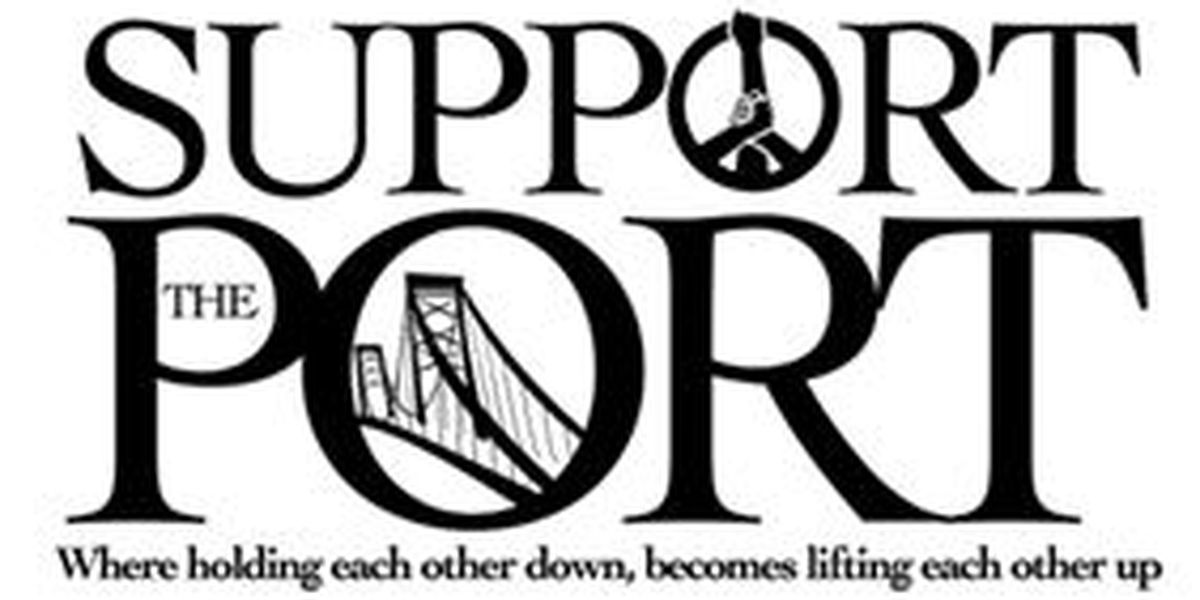 Support the Port offering free clothes to hurricane survivors