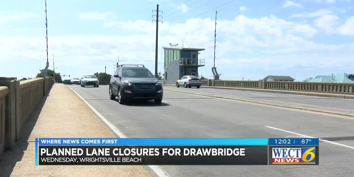TRAFFIC ALERT: Maintenance scheduled for Wrightsville Beach drawbridge