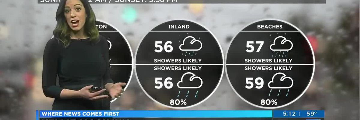 Your First Alert Forecast for Tuesday evening Feb. 18, 2020