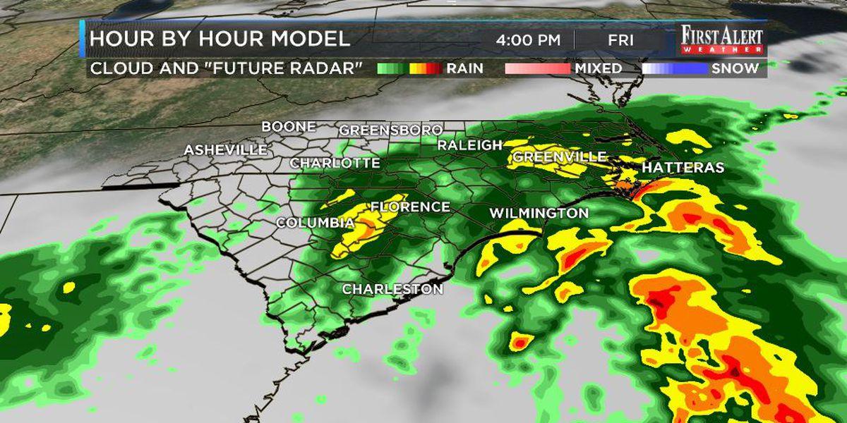 First Alert Forecast: coastal storm to buffet Cape Fear Region