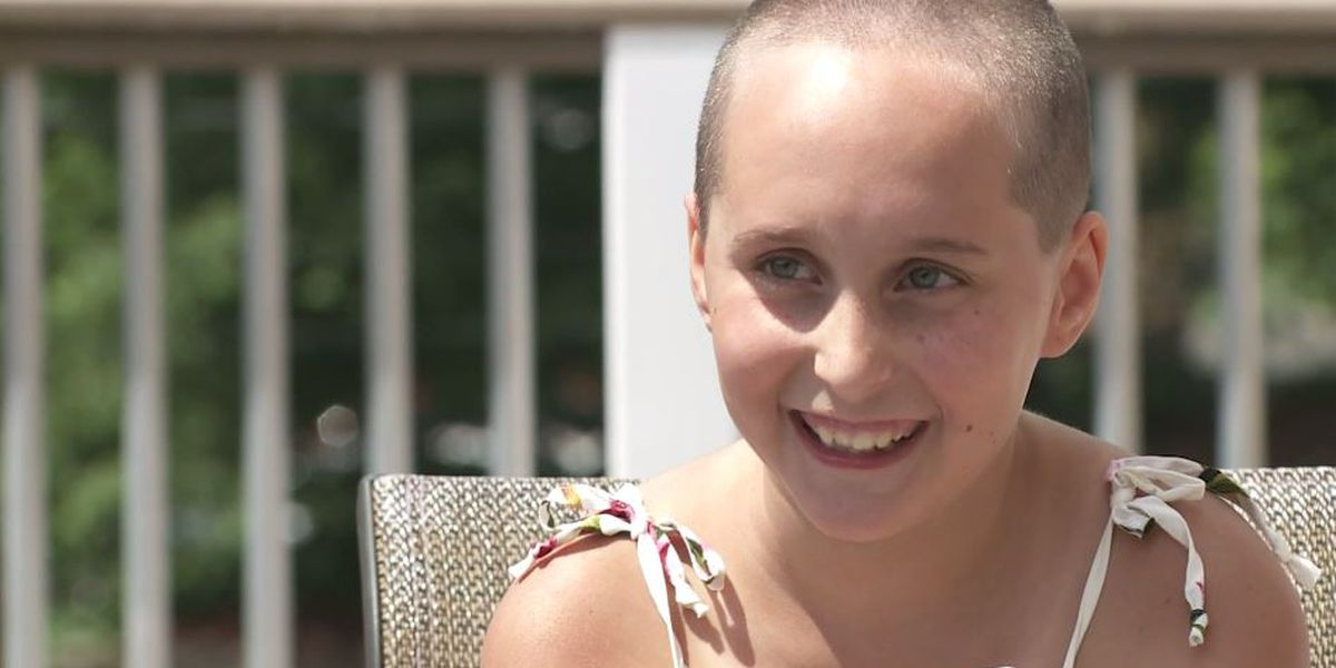9-year-old shaves head to raise money for kids with cancer