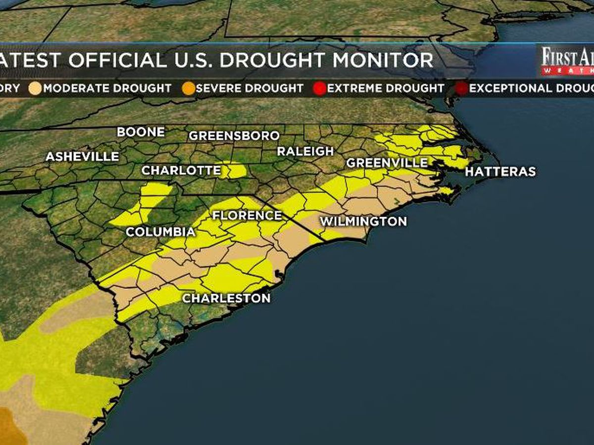 Drought holds for most of eastern Carolinas