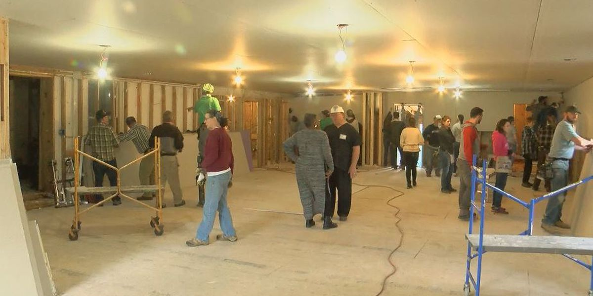 Volunteers descend on hurricane ravaged White Stocking church; prepping for Easter opening